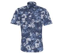 Kurzarm Hemd 'slim Fit' blau / weiß