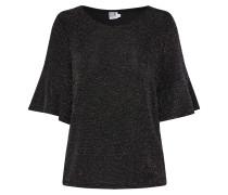 Bluse schwarz / silber