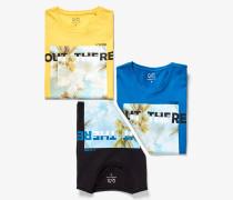 Jersey-T-Shirt gelb
