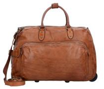 Traditional 2-Rollen Weekender Reisetasche Leder 55 cm