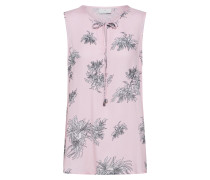 Bluse 'Kamille' grau / rosa