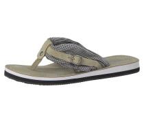 Sandale 'Anhänger' beige / schwarz / weiß