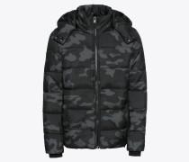 Steppjacke 'Hooded Camo Puffer Jacket'