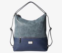 Handtasche blau / silber
