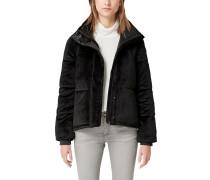 Puffer Jacket aus Samt schwarz