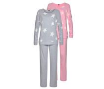 Pyjama hellgrau / rosa