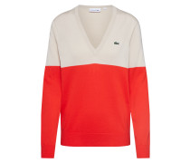 Pullover 'tricot' camel / feuerrot