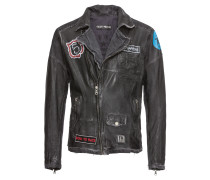 Lederjacke 'Mad Max' blue denim