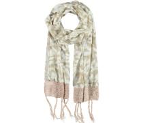 Baumwoll-Viskose Schal weiß