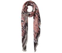 Langer Schal rosa / schwarz