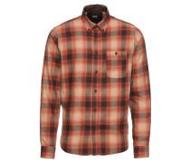Hemd 'Shirt - Reaburn' braun / dunkelorange