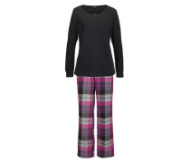 Pyjama lila / schwarz