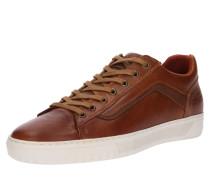 Sneaker cognac / weiß