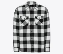 Hemd 'Lansdale' schwarz / weiß