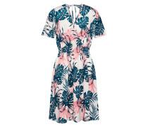 Kleid 'Leaf Print Wrap Front Dress with Back Tie Detail'