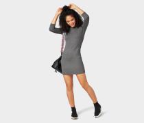 Strukturiertes Kleid grau