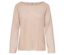 Lockerer Strickpullover beige
