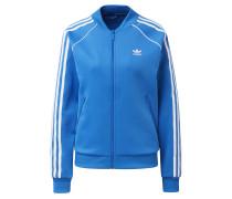 Sweatjacke himmelblau / weiß