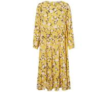 Kleid beige / gelb / schwarz