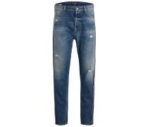 Jeans blue denim / rot / weiß
