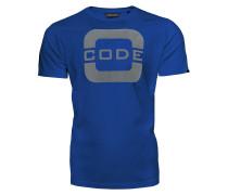 T-Shirt 'code' blau