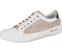Sneakers Low camel / naturweiß