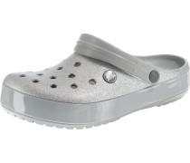 Clog 'Glitter Sil Crocband' silber
