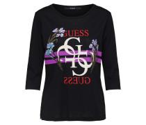 T-Shirt flieder / schwarz / weiß