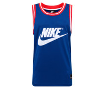 Shirt blau / rot / weiß