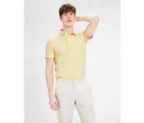 Poloshirt Baumwollpikee gelb