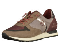 Sneaker braun / grau / weinrot / silber