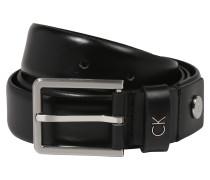 Eleganter Ledergürtel 3.0cm schwarz