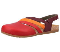 Sandalen orange / rot / kirschrot