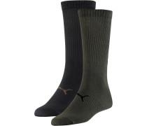 Socken Pack oliv / schwarz