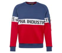 Sweatshirts navy / rot