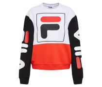 Sweatshirt 'date Crew' rot / schwarz / weiß