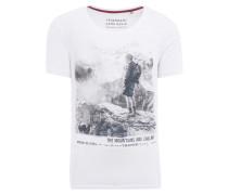 T-Shirt hellgrau / weiß