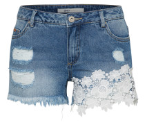 Jeansshort 'onlCARMEN' blue denim / naturweiß