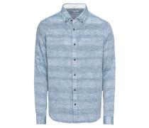 Freizeithemd 'doubleface lsl' blau