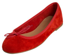 Wildleder-Ballerinas rot