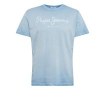 T-Shirt 'West Sir' hellblau / weiß