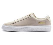 Sneaker 'Suede Trim' beige / gold / weiß