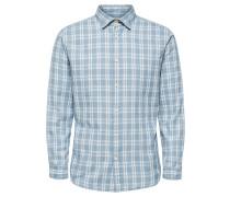 Regular Fit Langarmhemd hellblau