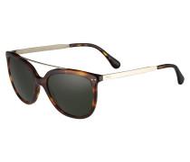 Sonnenbrille braun / grün