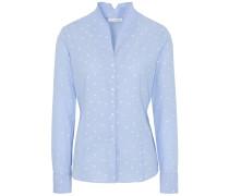 Bluse hellblau / weiß