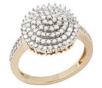Ring mit funkelnden Diamanten gold