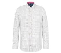 Hemd 'johan - Hemd Dots' naturweiß