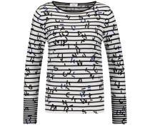Pullover blau / schwarz / weiß