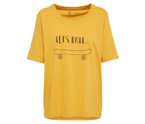 T-Shirt 'let's roll' gelb