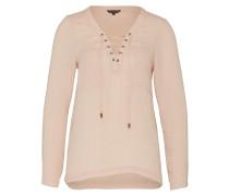 Bluse mit Schnürung rosa